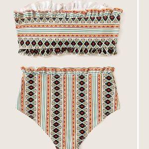 SHEIN Aztec print Bandeau Bikini